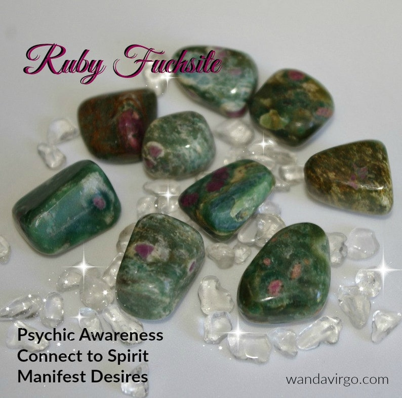 Ruby Fuchsite Tumbled Stones for connecting with your Soul image 0