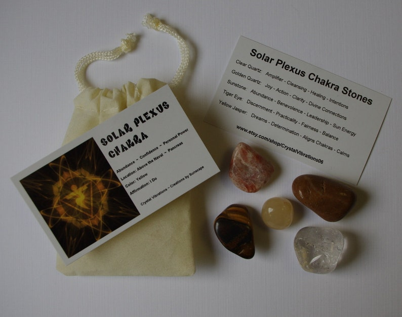 SOLAR PLEXUS CHAKRA Medicine Bag for Attracting Abundance and image 0