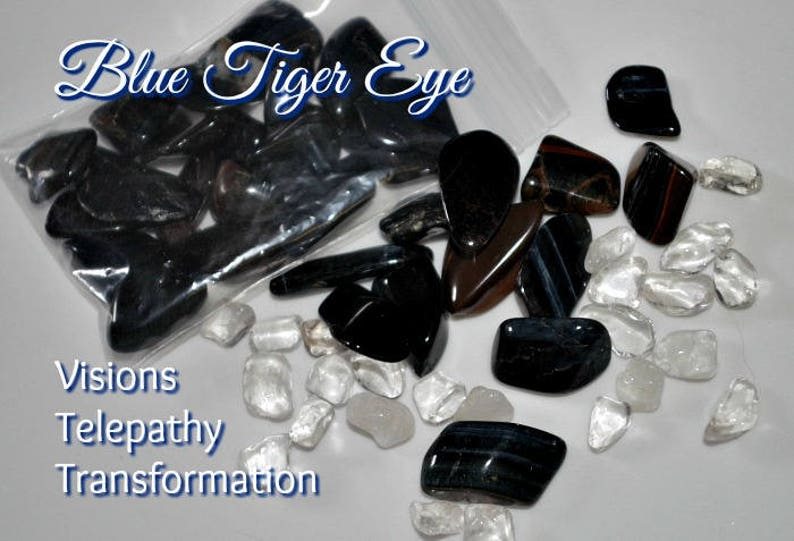 Pietersite Blue Tiger Eye Nuggets for Clearing and Cleansing image 0
