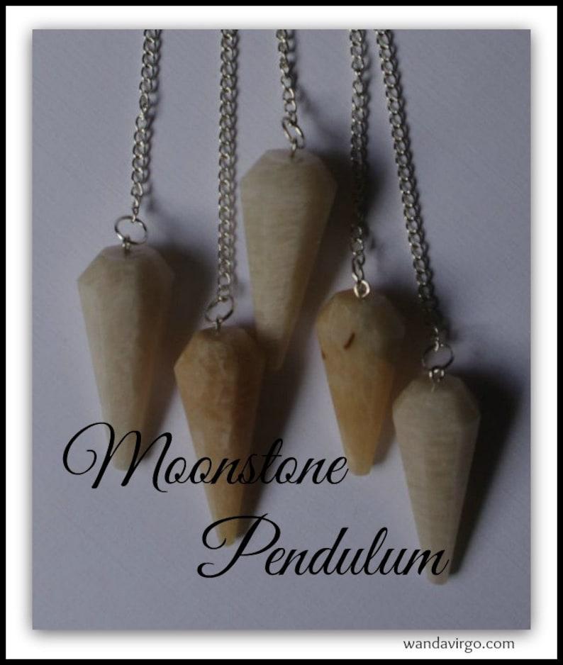 MOONSTONE PENDULUM Dousing Divination Supernatural Magical image 0