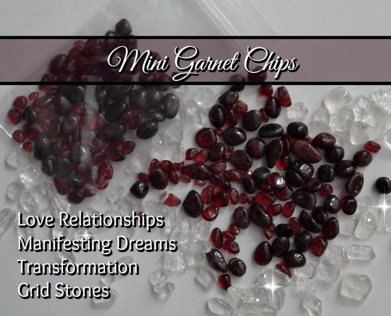 Tumbled GARNET CHIPS for strengthening & protecting the image 0
