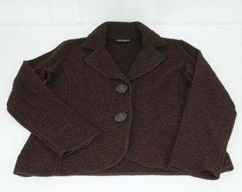 22dd97c421dad Vintage Women's Jane Ashley Brown Snap S Small Wool Cardigan Sweater