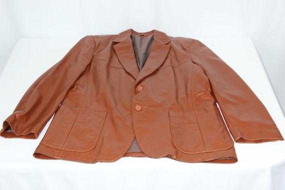 The Leather Shop Vintage Sears Brown Men's 42R 70… - image 1