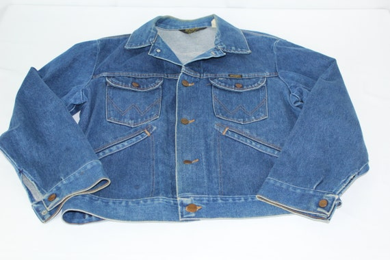 VTG 70s Wrangler USA Mens Size 42 Blue Jean Denim