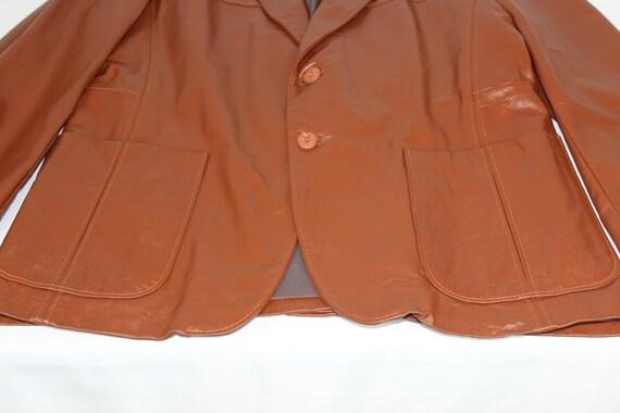 The Leather Shop Vintage Sears Brown Men's 42R 70… - image 3