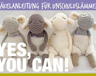 """Crochet instructions for """"Innocent lambs with lint pop"""""""