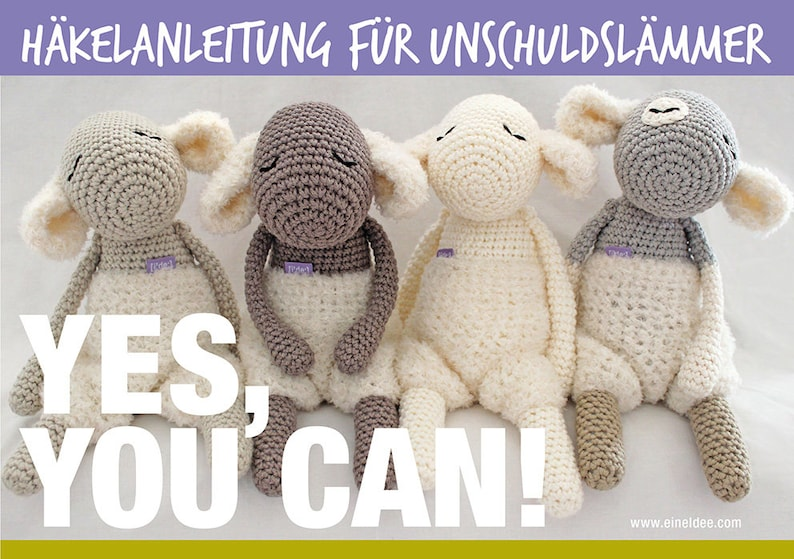Crochet instructions for innocence lambs with lint image 0