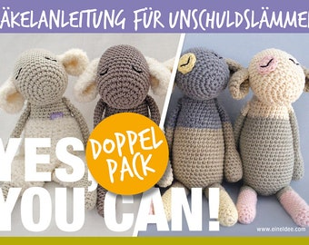 """2 crochet instructions """"Innocent Lambs"""", double pack"""