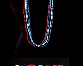 Vintage 1975 Plastic Bead Necklaces & Bangles Set