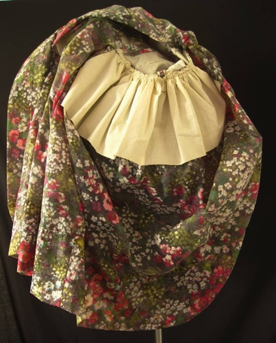 1980s Floral Puff Ball Dress - image 7