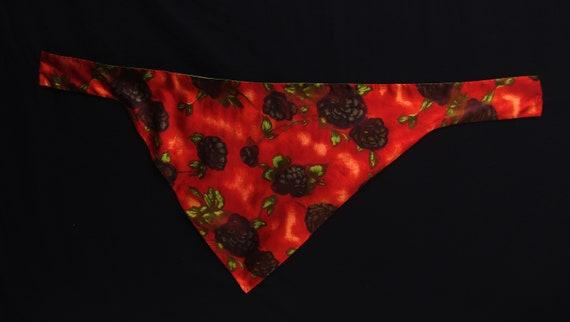 Vintage 1960s Red/Orange Floral Tent Dress & Matc… - image 7