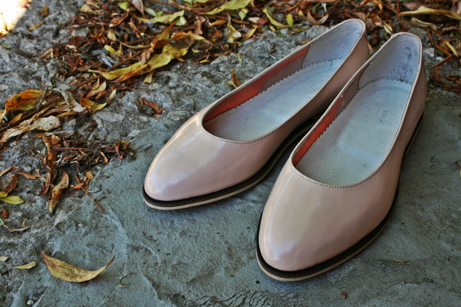 nude patient leather ballet flats, ballerina shoes, wedding shoes, leather flats, bridal balerina flats, nude shoes, nude flats