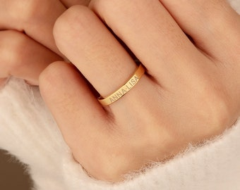 Promise ring, Personalized Ring ,Engraved Ring ,Best Friend Ring, Stacking Ring, Promise ring for her, Best friend gift, Name ring, R1