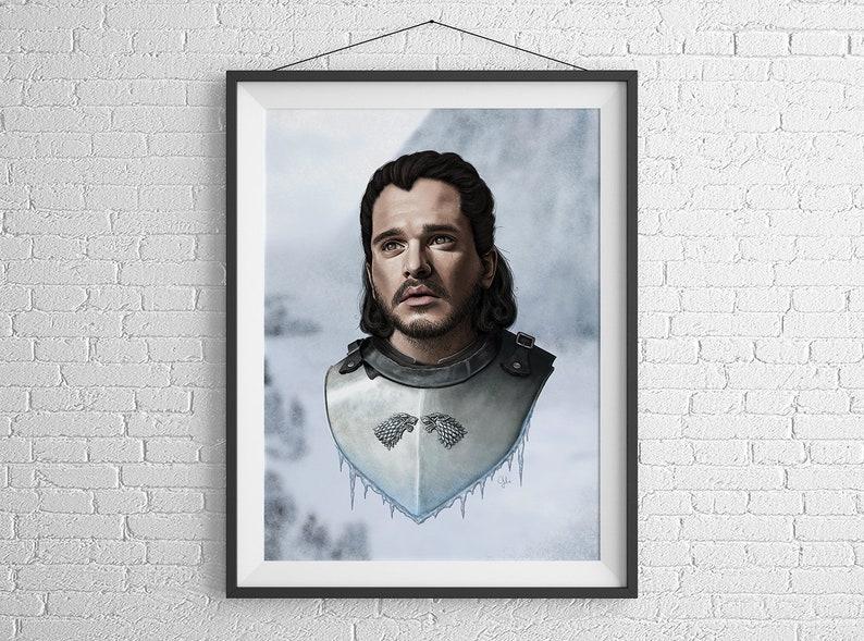 Game of Thrones  Jon Snow  Giclée Poster Art Print by Gülce image 0