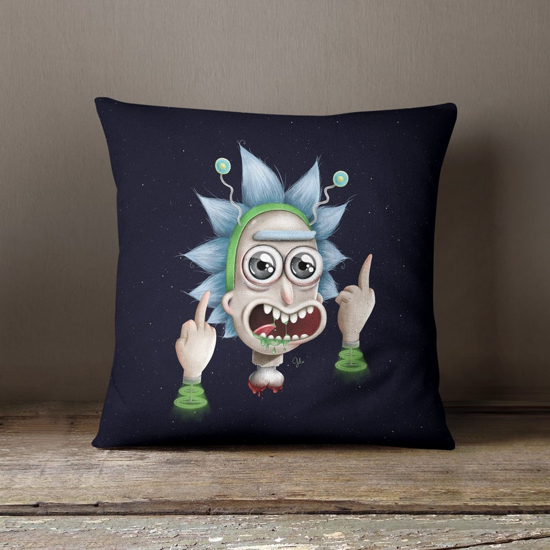 Rick and Morty  Peace Among Worlds  PILLOW by Gülce Baycık  image 0