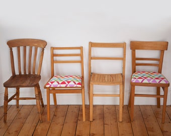 Mismatched Dining Chairs in Sets of 2, 4, 6 or 8, Dining, New Home, Wooden Chairs, Vintage Chairs