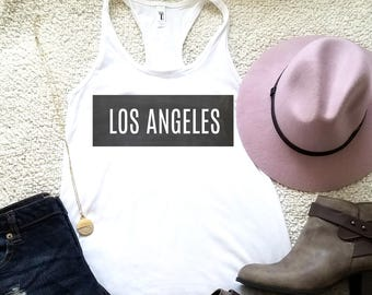 Los Angeles Los Angeles tank, graphic shirts, women funny graphic shirt instagram tumblr gift