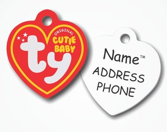 Ty Cutie Baby Pet ID Tag - Customizable Name a5d87feb68