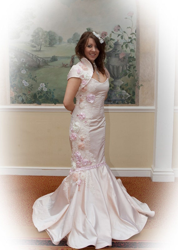 Pink Wedding Dress with Crystals