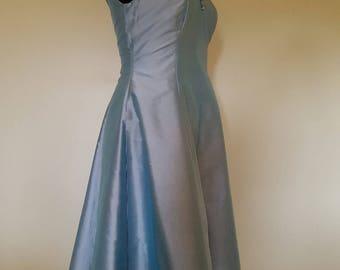 Silk dupion vintage style bridesmaids dress with flower detail, prom dress, evening dress, vintage style dress, 1940s dress, 1950s dress