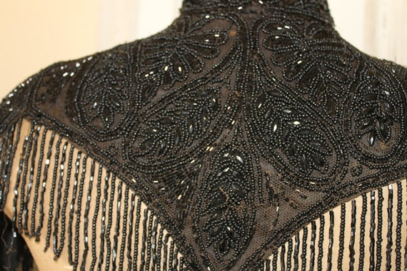 Victorian black beaded cape sold by H. Gee & Nephe