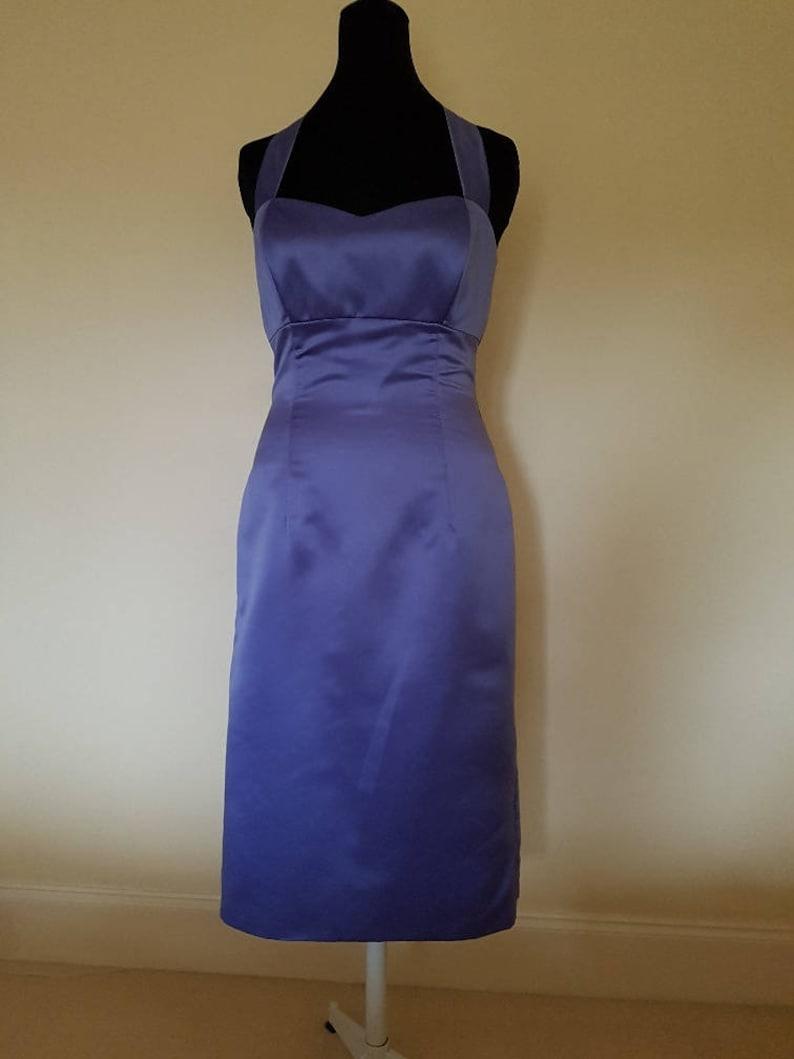 633b9b8455aee OOAK vintage style lilac halterneck dress vintage pin up   Etsy