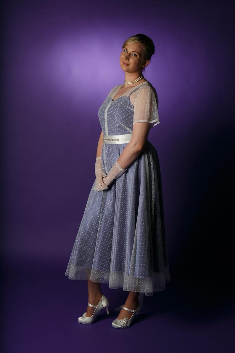 2e79d52e42bfa OOAK Vintage style tulle overdress polka dot dress sheer   Etsy