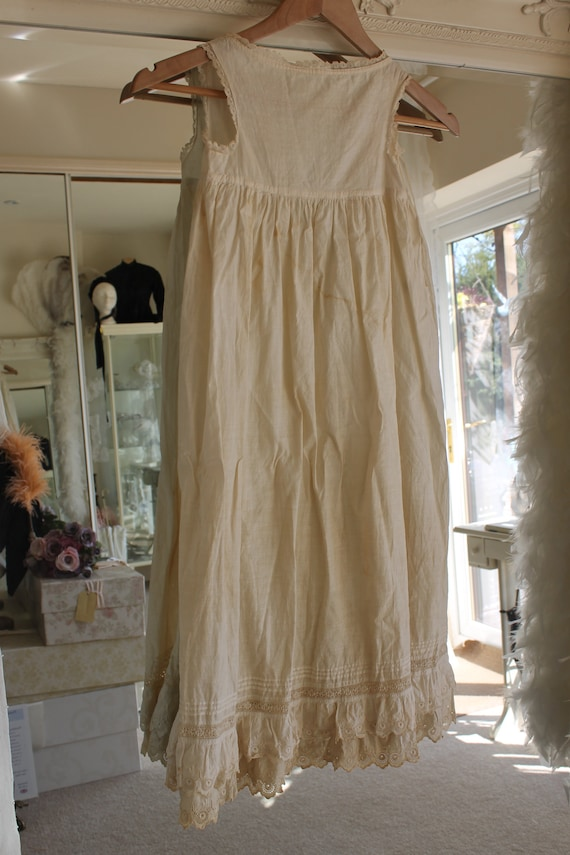 Edwardian white cotton and broderie anglaise night