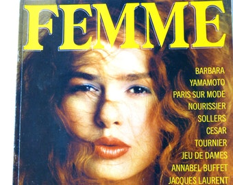 FEMME women's fashion magazine - February 1986 ready-to-wear & redhead special - French 80s vintage