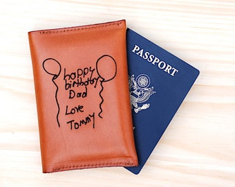 Birthday Dad Gift, Mens Passport Wallet, Wallet for Men, Men's Gift, Dad's Leather Travel Wallet, Fathers Day Gift, Daddy Gift, Gift For Dad