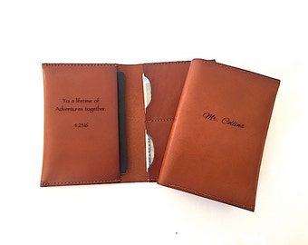Personalized Alligators /& Stripes Genuine Leather Passport Cover