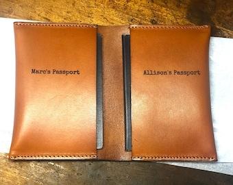 Turkey Christmas And Pumpkin Leather Passport Holder Cover Case Blocking Travel Wallet