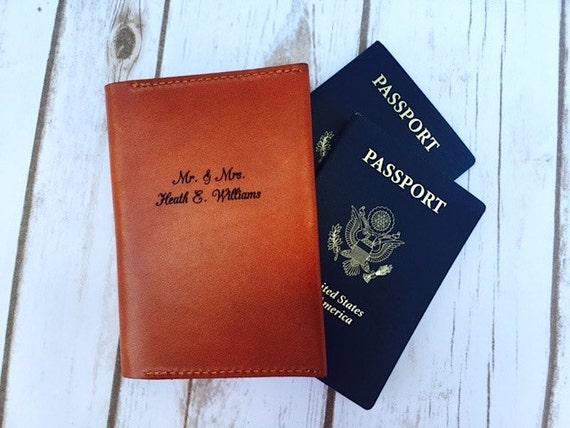 The Best Wedding Gift Passport Sleeve Wallet Wife Gift   Etsy
