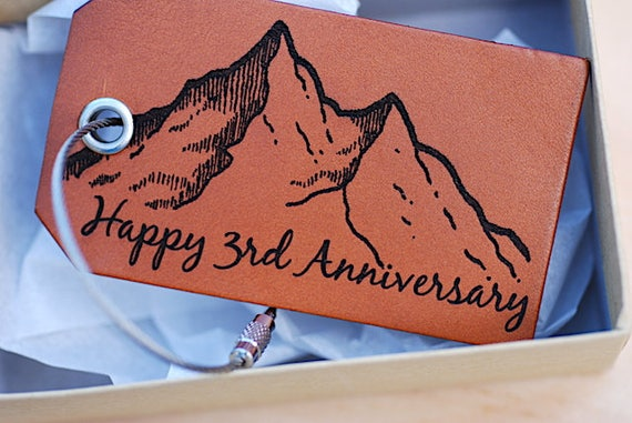 3rd Wedding Anniversary Gifts For Husband: Happy 3rd Third Anniversary Gift Wife Husband Mountain