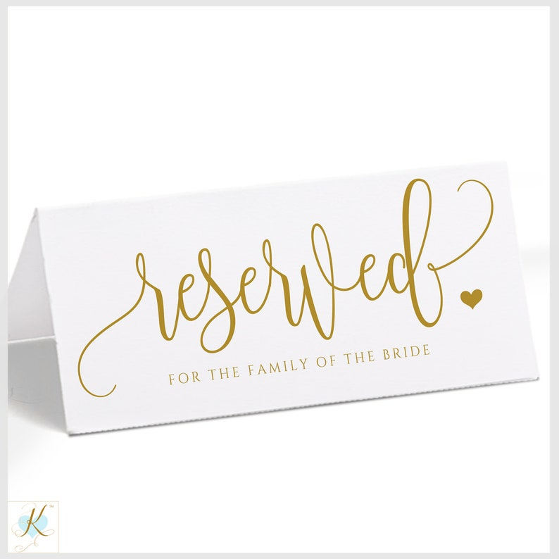 photo relating to Reserved Sign Printable called Gold Wedding day Reserved Signal Template (Tent) Printable Marriage ceremony Reserved Indications Rustic Calligraphy EDITABLE Words and phrases PDF - Immediate Down load