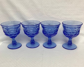 Set Of Four Champagne Tall Sherbet Goblets By Fostoria In The Argus Pattern