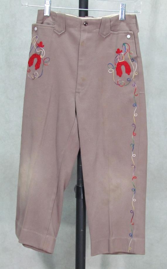 1950s Boys Cowboy Jeans Vintage Western 1950s Pan… - image 1
