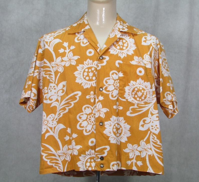 978582be 1950s Hawaiian Shirt Vintage 1960s Hawaiian Shirt Mustard | Etsy