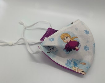 Disney Frozen Fabric Face Mask (Adult and Small Adult/Teen sizes)