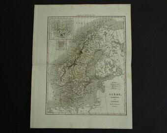 Haute-saÔne haute- 1878 Old Antique Vintage Map Plan Chart Saone