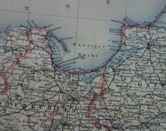 Old Map Of Bavaria Germany 1913 Original Vintage Print Poster Etsy
