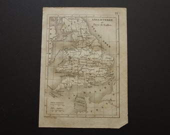 Map Of England Chester.Chester England Map Etsy
