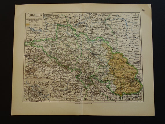 Map Of Germany For Sale.Germany Old Map Of Germany 1905 Original Vintage Poster About Silezia Poland Breslau Antique Detailed Maps 10x12