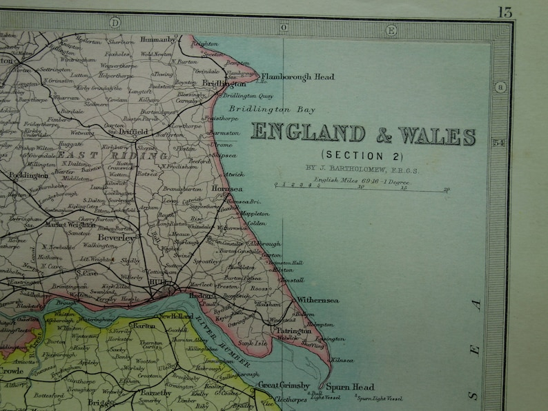 Big Map Of England.England Antique Map Of England 1890 Original Large Old Print About Lincoln Lancashire Manchester Stafford Hull Vintage Maps Poster 14x19 Big