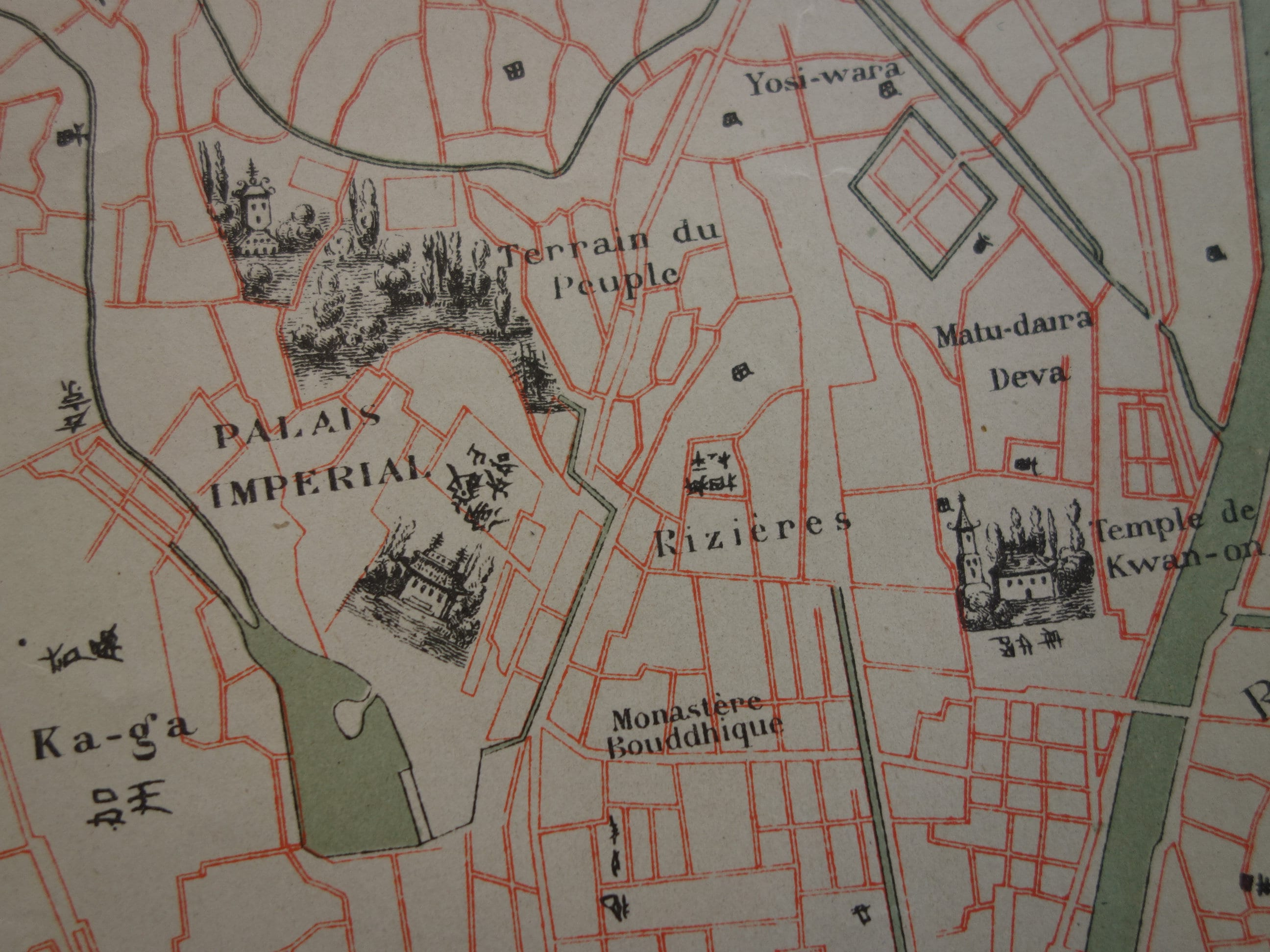 Tokyo Antique Large Map Of Tokyo 1877 Beautiful Old Original Etsy