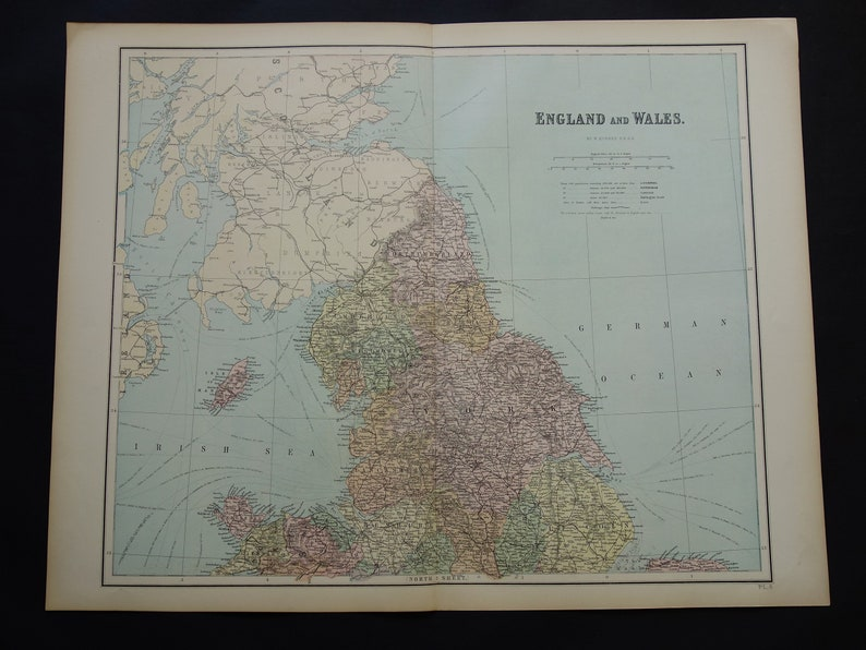 Map Of England Zoom.England Old Map Of Britain 1877 Large Original Antique Maps About Newcastle Sunderland Leeds Vintage Poster Print Liverpool 22x28 Big