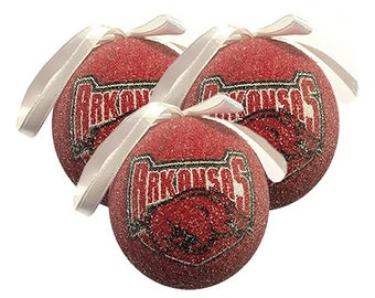 Set of 3 Arkansas RazorBack Ball.