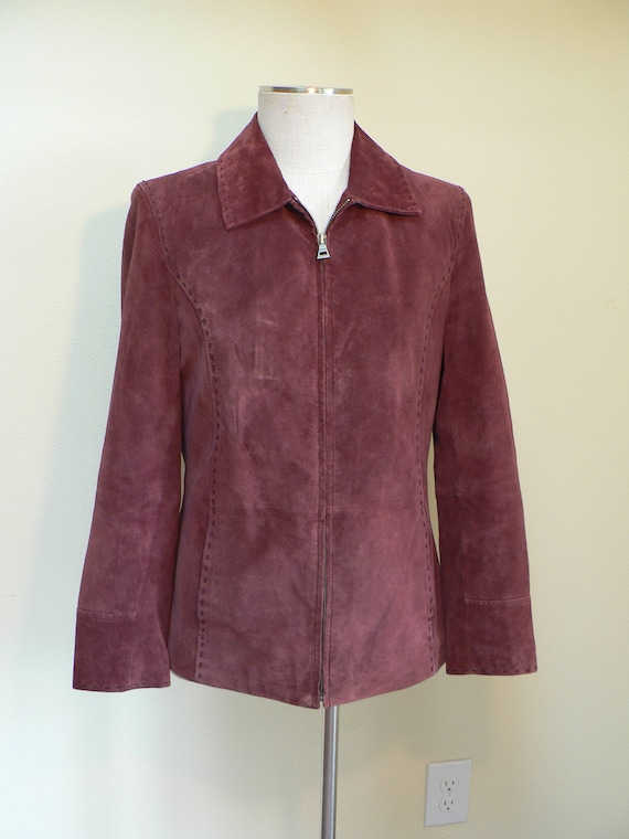 Bernardo leather suede size small jacket, vintage