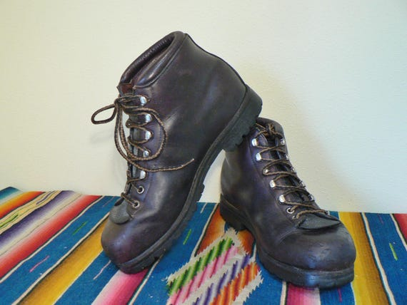 Vintage Leather climbing boots womens size 8 hiking boots  332123384
