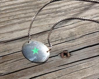 Necklace Pendant Sterling Enamel Star Statement